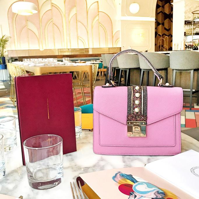 pink aldo whipster bag
