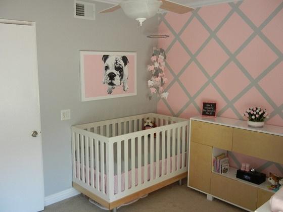 Cuartos de beb en rosa y gris ideas para decorar for Decoracion habitacion nina gris y rosa