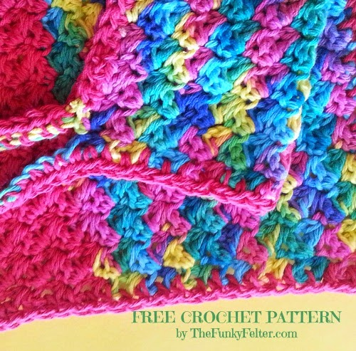 a totally free and fun crochet pattern by the funky felter