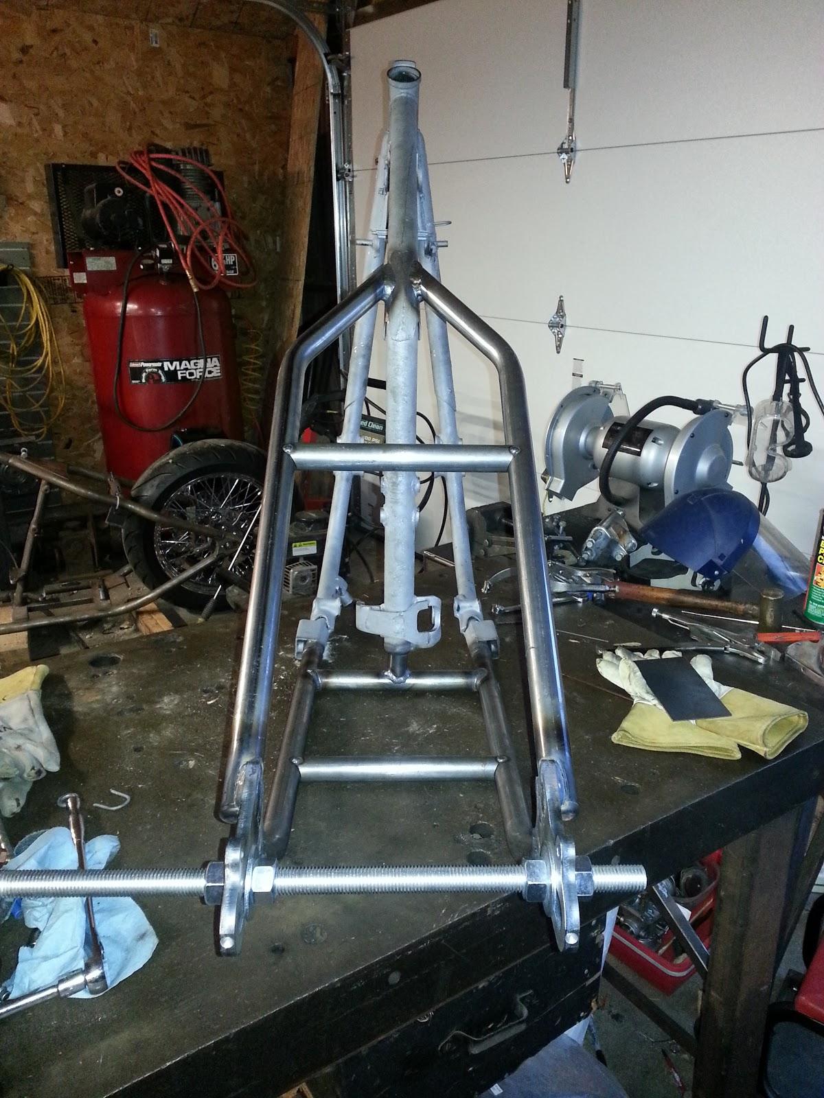 WISNER CYCLES, Anamosa Iowa: XS650 Yamaha weld-on hardtail
