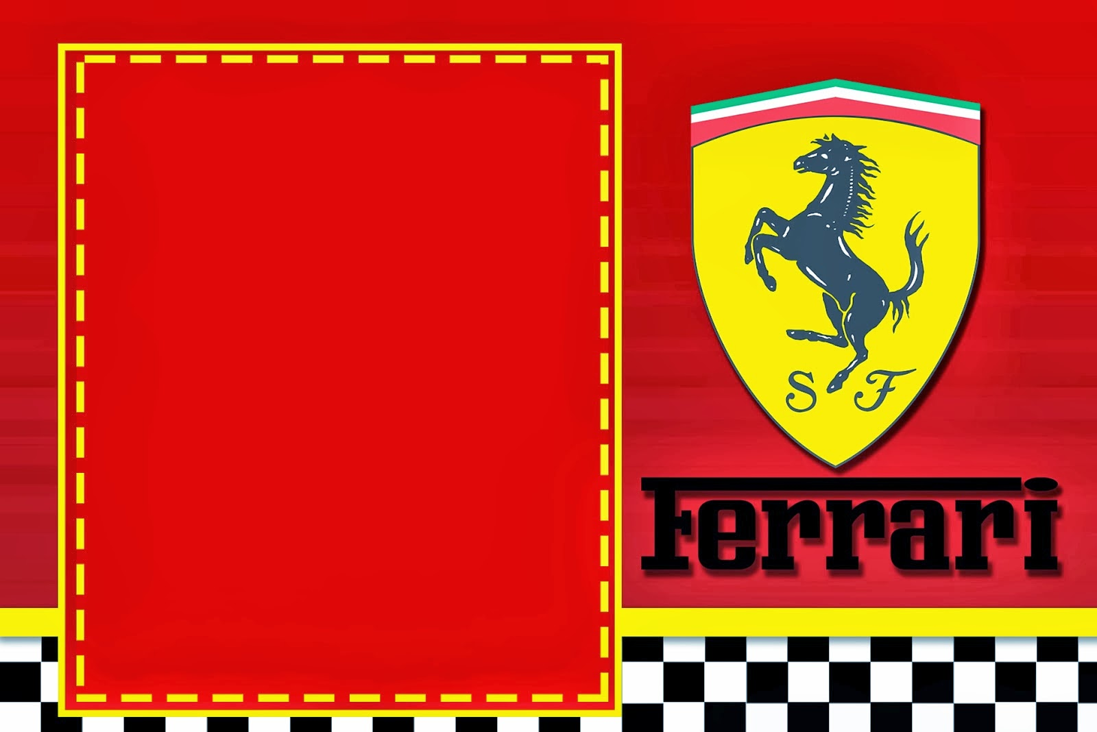 Ferrari Free Printable Cards or Invitations Oh My Fiesta in english