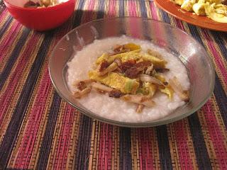 Masak nasi jadi bubur, biar irit