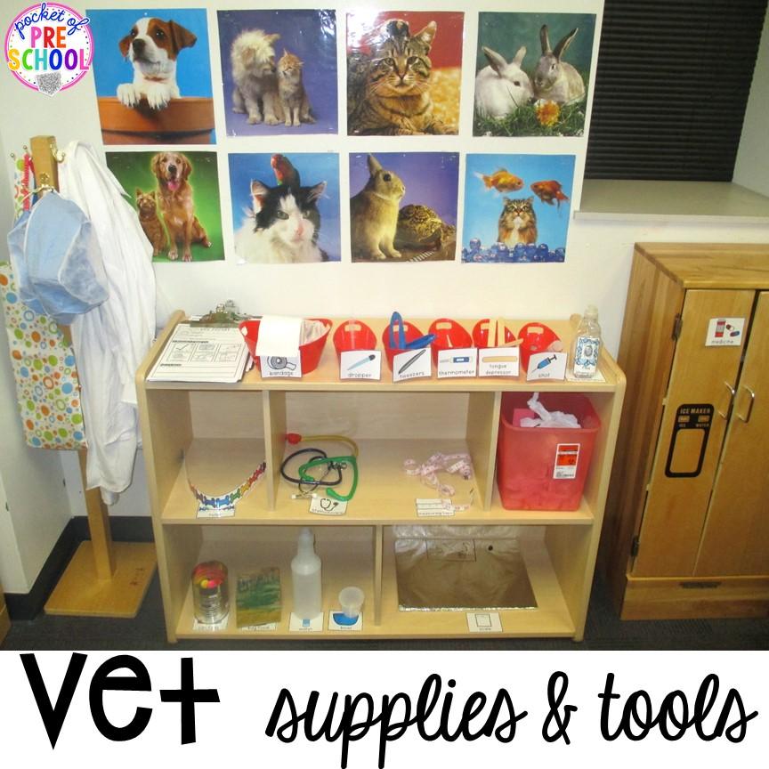 Vet animal hospital dramatic play pocket of preschool for A family pet salon