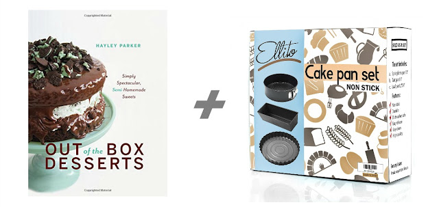 Out of the Box Desserts by Hayley Parker + a 3 Piece Cake Pan Set