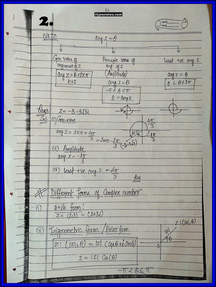 iitjee notes on complex number page 2