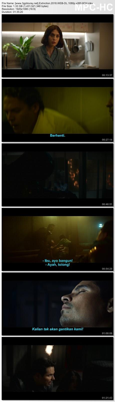 Screenshots Download Film Gratis Hardsub Indo Extinction (2018) WEB-DL 480p MP4 Subtitle Bahasa Indonesia 3GP