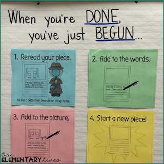 Anchor chart for when your students think they're done.