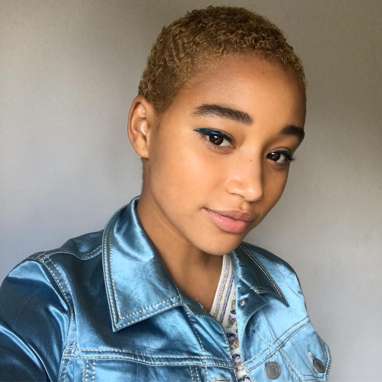 Amandla Stenberg Big Chops For Role And Goes Blonde