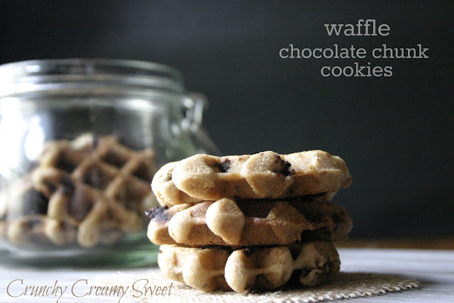 waffle+CCC+1 CCC Monday: Waffle Chocolate Chunk Cookies