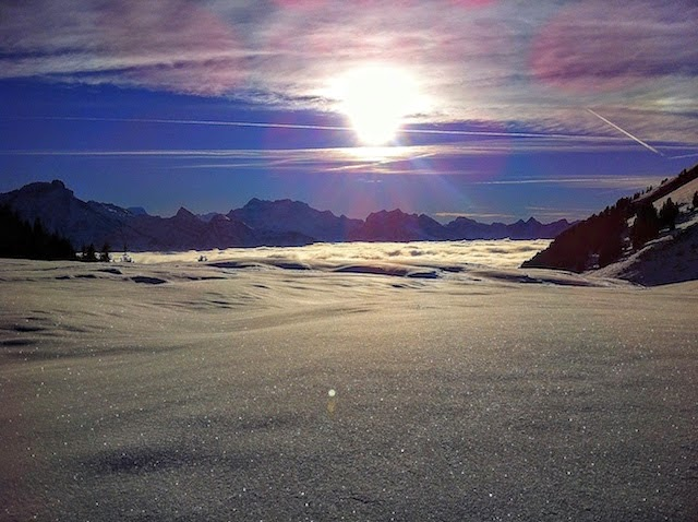 Mountains near Zurich under the snow