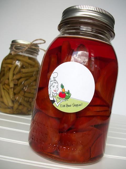 vegetable canning jar labels