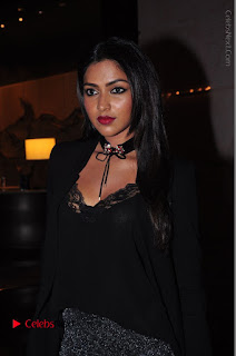 Actress Amala Paul Stills in Black Dress at South Scope Lifestyle Awards 2016 Red Carpet  0033.JPG