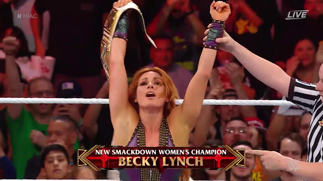 WWE Hell In A Cell Becky Lynch def Charlotte Flair