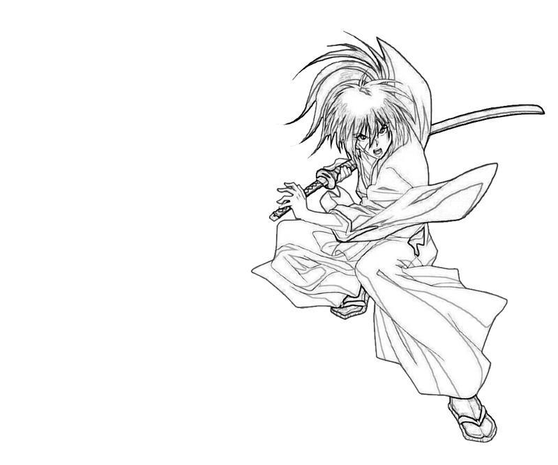 kenshin coloring pages | Kenshin Himura Samurai | Lean Printing