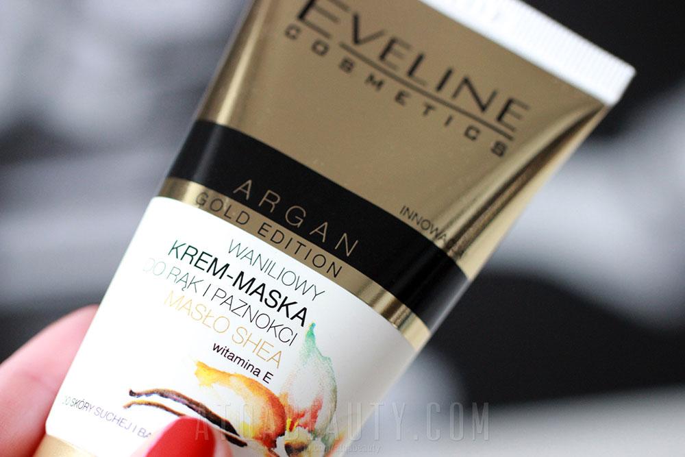 Eveline, Argan Gold Edition, Waniliowy krem-maska do rąk i paznokci i Waniliowy krem-serum do rąk i paznokci