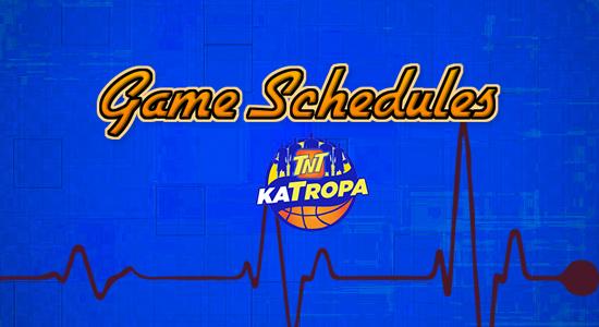 List: TNT Katropa Game Schedules 2017-2018 PBA Philippine Cup