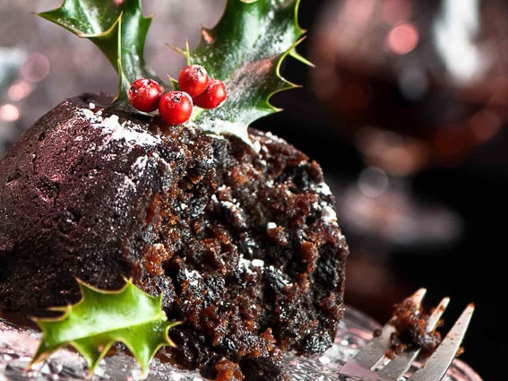 Christmas Pudding. Dulce típico Navideño. Gran Bretaña