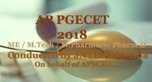 AP PGECET 2018 Registration, Notification, Exam date, Online application