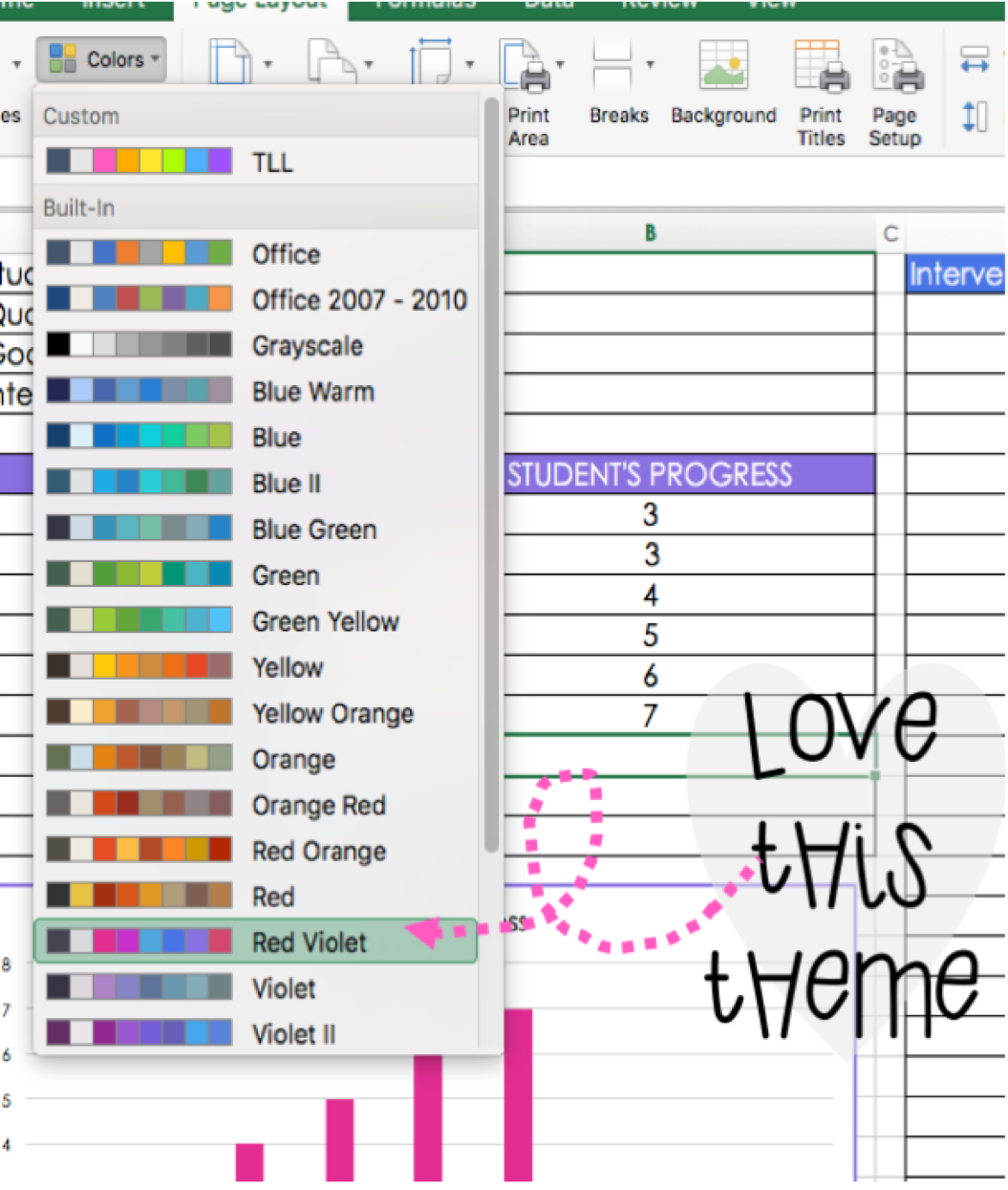 customizing color themes in powerpoint and excel