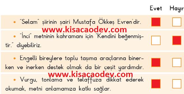 3. Sınıf SDR Dikey Yayınları Türkçe Sayfa  48. 49. Erdemler Tema Sonu Değerlendirme Cevapları