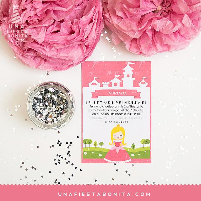 imprimible princesa aurora invitación