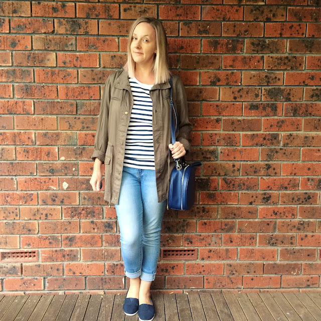 kmart anorak, striped tee and jeans | Almost Posh