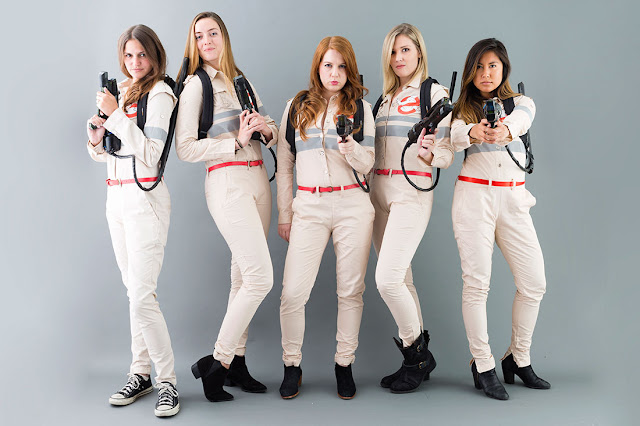 DIY Ghostbuster Costumes - and many other modest Halloween costume ideas!