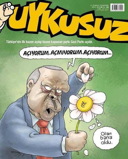 Uykusuz Dergisi   11 Temmuz 2013 Kapak Karikatürü