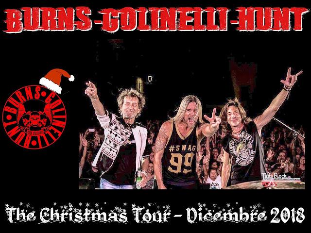 BURNS, GOLINELLI e HUNT a Dicembre THE CHRISTMAS TOUR