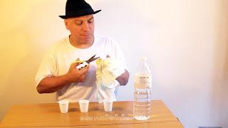 Desaparecer agua. Truco de ciencia-magia revelado. Explicacion 01