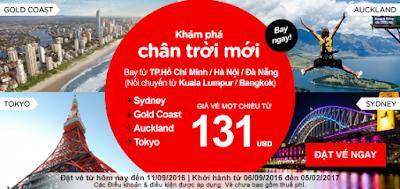 Đặt mua vé máy bay ưu đãi giá rẻ của Air Asia