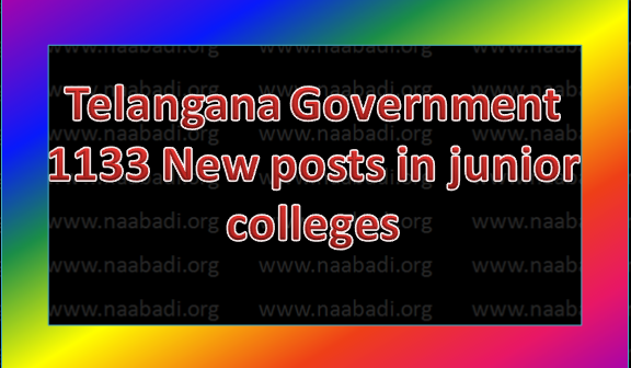 Telangana Government,1133 New Posts in Junior colleges