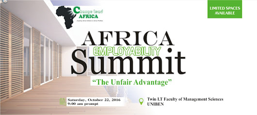 The Biggest Africa Employability Summit Slated To Hold At Uniben On October 15th, 2016.