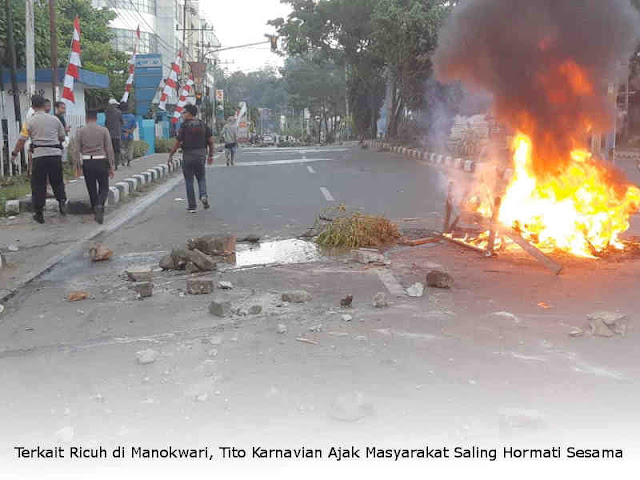 Terkait Ricuh di Manokwari, Tito Karnavian Ajak Masyarakat Saling Hormati Sesama