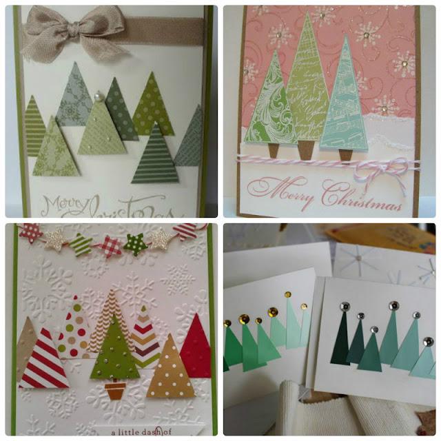 DIY Christmas card tutorial : Πώς να φτιάξεις Χριστουγεννιάτικη κάρτα με έλατα