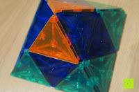 Zelt oben: Playbees 100 Teile Magnetische Bausteine Set für 2D und 3D Form Konstruktionen, Regenbogenfarben Magnetspielzeug, Baukasten Magnetspiel, Magnetbausteine