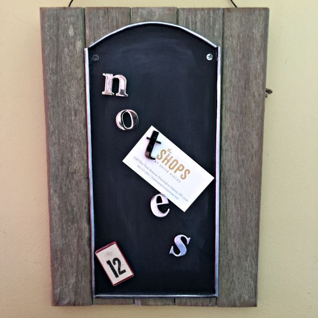 Easy Rustic Magnetic Chalkboard www.homeroad.net