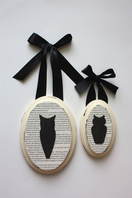 Spooky Halloween Book Page Crafts - Black and White Owl Art