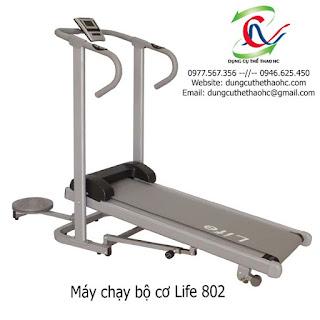 Máy chạy bộ cơ 2 chức năng LIFE 802