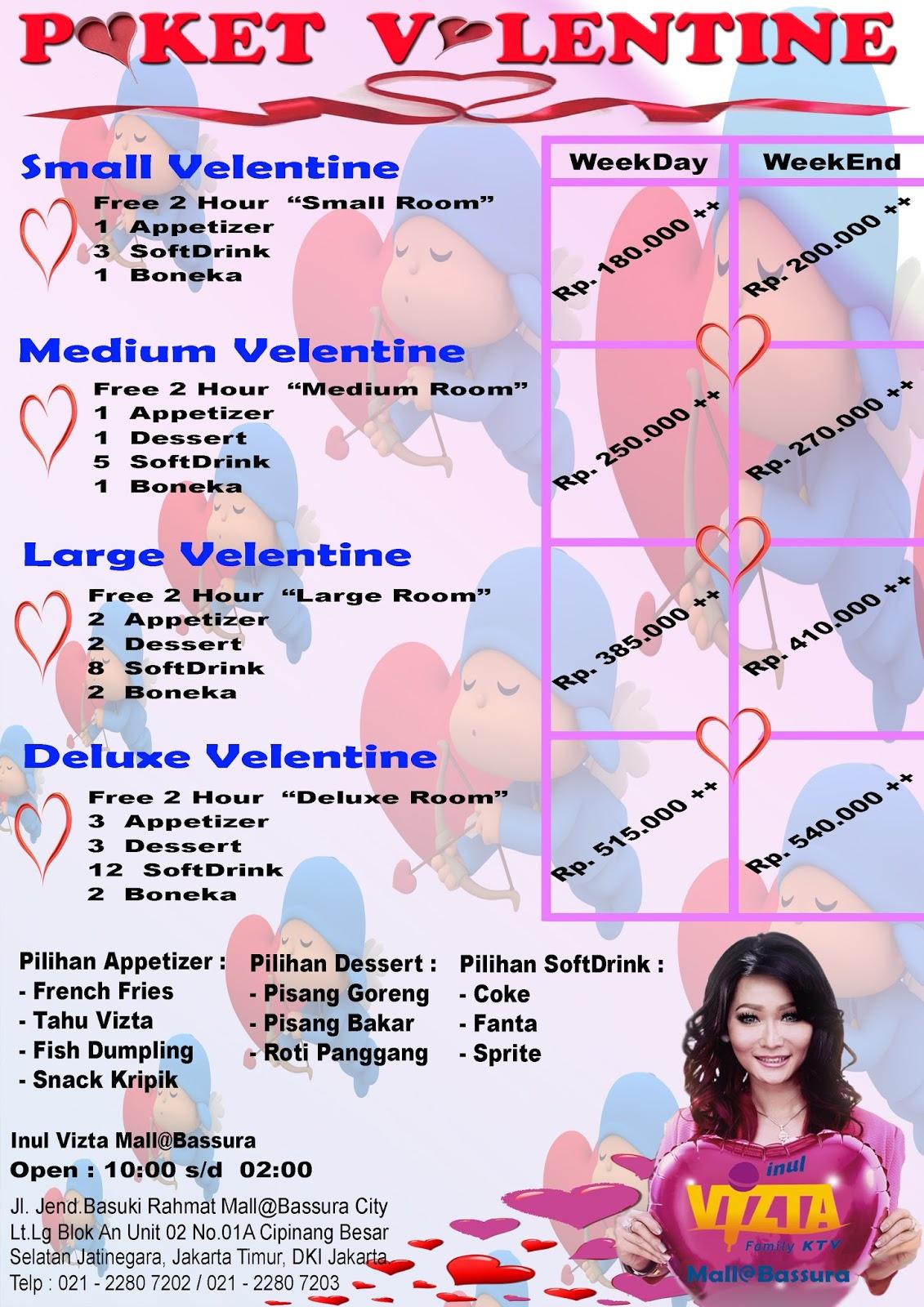 Paket Valentine | Inul Vizta Mall@Bassura