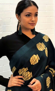 Keerthy Suresh in Black Saree 2