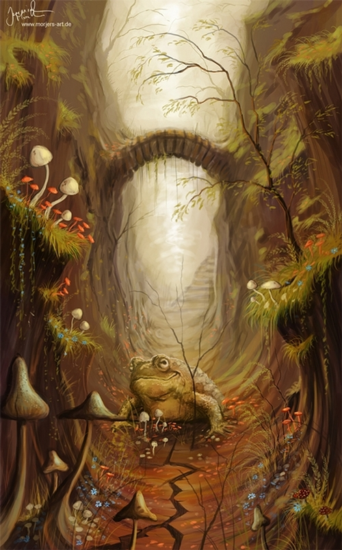 22-The-Mushroom-Road-Jeremiah-Morelli-Fantasy-Digital-Art-from-a-Middle-School-Teacher-www-designstack-co