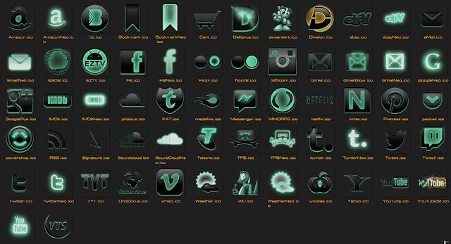 Share Bộ Icon phần mềm máy tính dành cho Win 7,8,10 cực chất