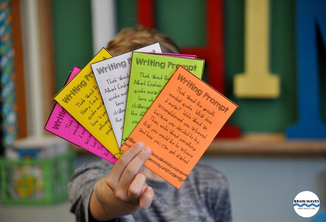 Make learning about growth mindset fun with these writing prompts! Based on quotes, these prompts will have students thinking and reflecting on their own growth mindsets!