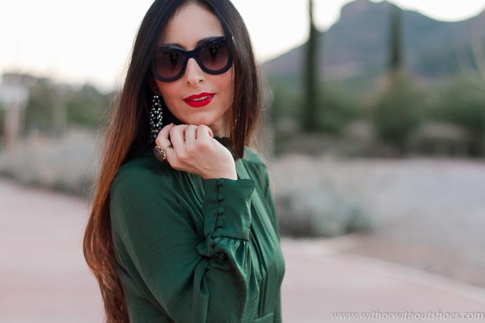 tendencias en complementos accesorios pendientes largos y gafas de sol