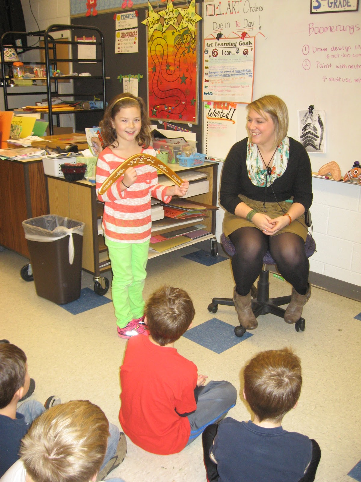 Jamestown Elementary Art Blog 3rd Grade Aboriginal Boomerangs