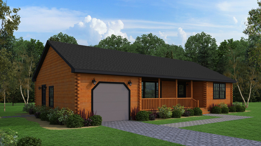 Log cabin home kits affordable energy efficient log for Home models and prices