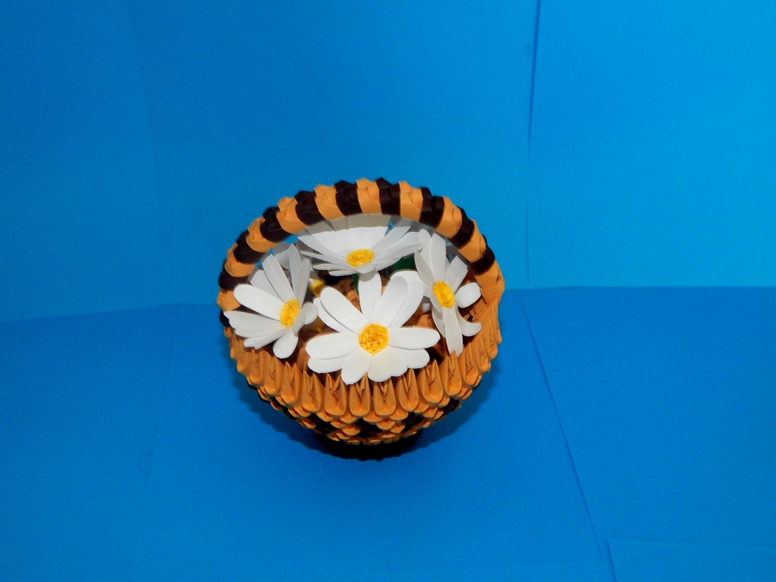 HOW TO MAKE 3D ORIGAMI FLOWER BASKET | DIY PAPER FLOWER BASKET ... | 1200x1600