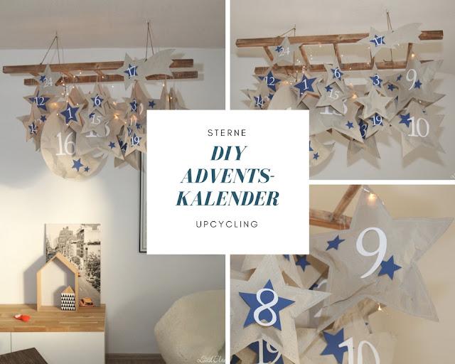 Adventskalender - Selbermachen - DIY - basteln - Upcycling - Sterne