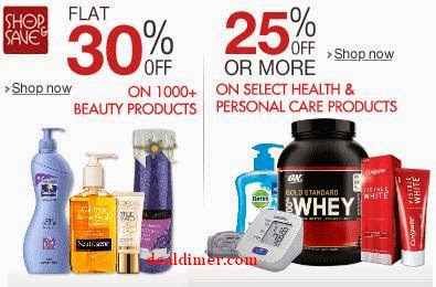 Beauty Products 30% Off or more, Health & Personal Care 25% off or more